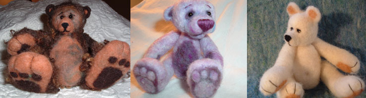 needle felt bear kit